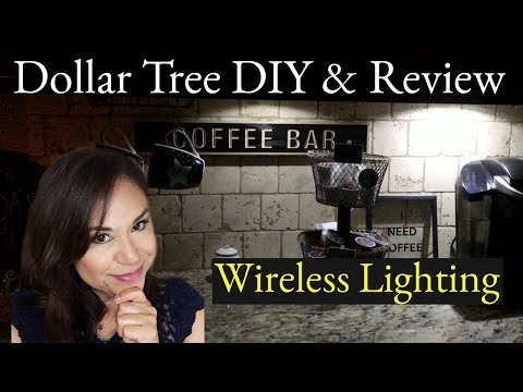 Dollar Tree DIY Wireless Under Cabinet Lighting & REVIEW | Home Decor on a Budget!