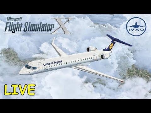 FSX | IVAO | Nizza - München | RFE MUC 2017 | Bombardier CRJ 900 Lufthansa [Livestream]