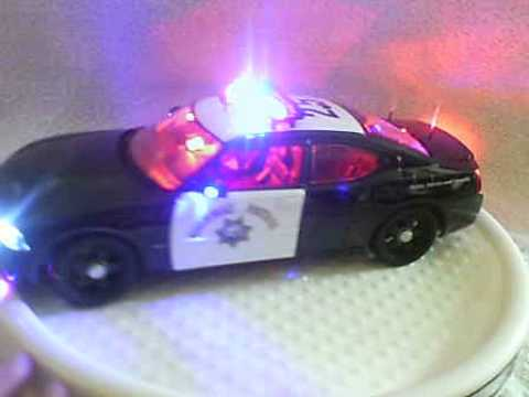 Chp Dodge Charger Diecast Police Car With Working Lights