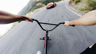 One of John Hicks's most viewed videos: INTENSE BMX vs GTR HILL BOMB - FULL SPEED *NO BRAKES*