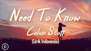 Calum Scott - Need To Know (Lirik dan Arti   Terjemahan)