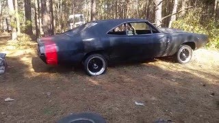 Cheap ebay $150 Big 13 inch Disc brake swap, 1969 Dodge Charger Black Widow, drum spindles and hubs!