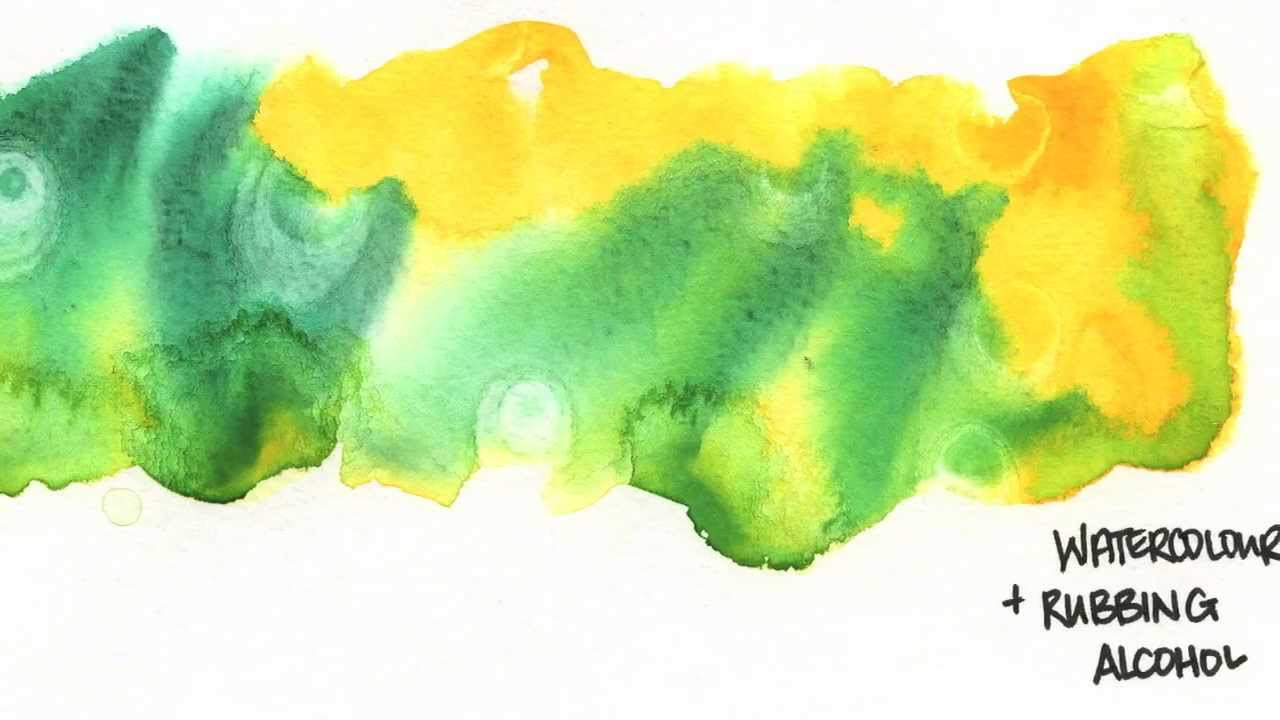 Texture Effects Rubbing Alcohol On Watercolour Amp Acrylic