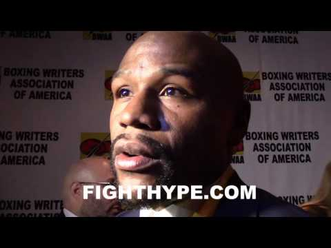 FLOYD MAYWEATHER COMMENTS ON BEING HONORED BY BWAA (BOXING WRITERS); FIGHTER OF THE YEAR