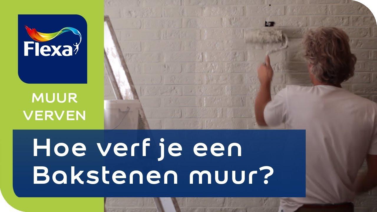 Stenen Muur Wit : Flexa lets colour hoe schilder je een bakstenen muur? youtube