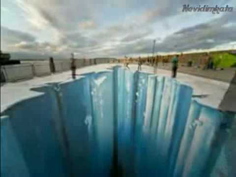 3D hole on the road - YouTube
