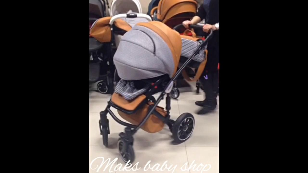 Санки коляска kristy premium отзывы - YouTube