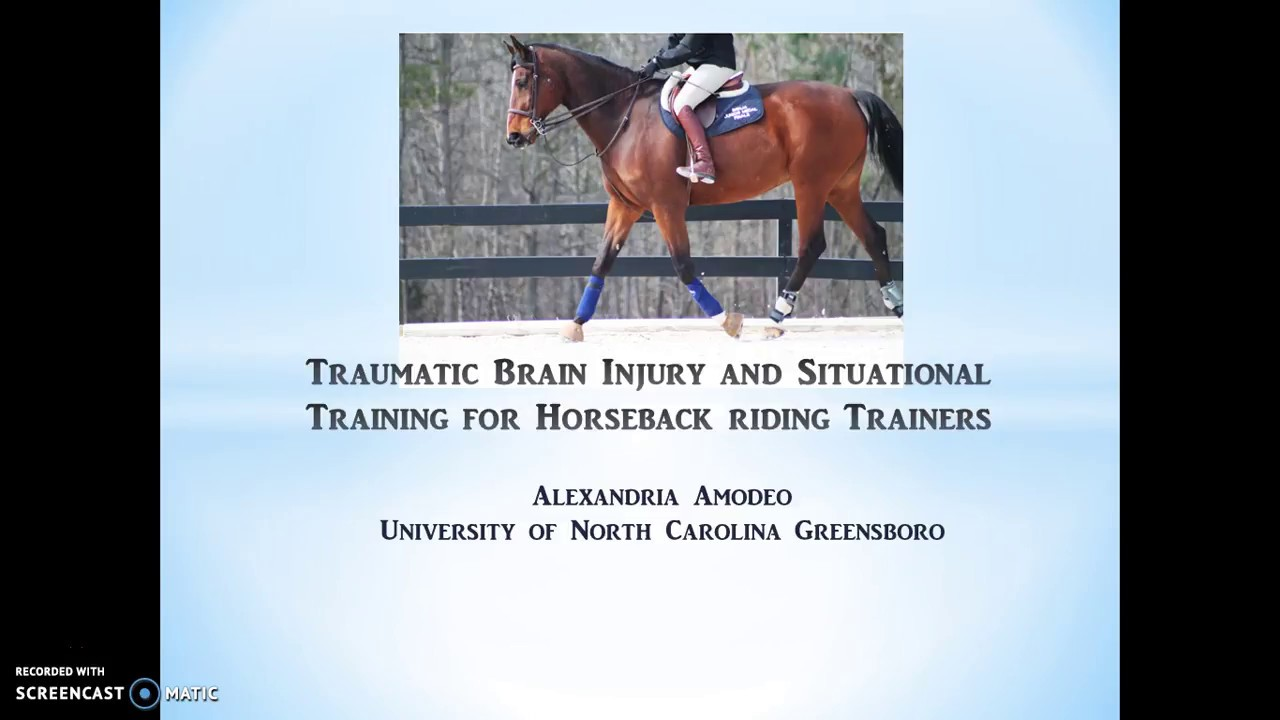 Traumatic Brain Injury and Situational Training for Horseback riding  Trainers