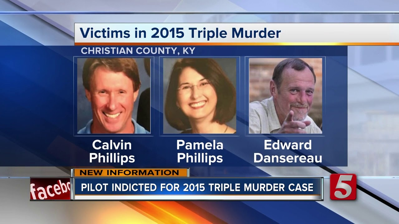 Pilot indicted in 2015 Christian County triple murder