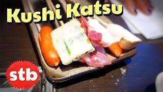 Japanese Food: Kushikatsu in Tokyo, Japan with SoloTravelBlog