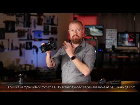 """""""Articulating LCD, LVF and auto switching"""" from the LUMIX GH5 Training Course at GH5Training.com"""