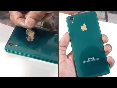 online store 1837c f259e Convert oppo A37 in Iphone XR with apple lamination wrap trick 2018