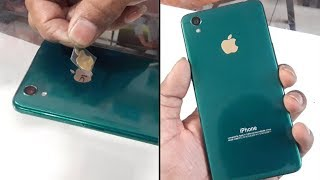 Convert oppo A37 in Iphone XR with apple lamination wrap trick 2018