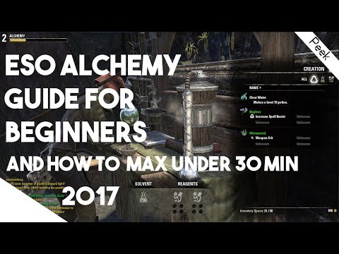 Elder Scrolls Online Beginners Guide - Alchemy Explained and How to lvl 1- 50 in 30 Minutes!