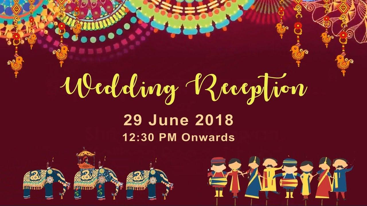 wedding invitation video, e- invitation -best whats app invitation ...