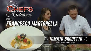 Chef Francesco Martorella Makes Black Bass With Brodetto.
