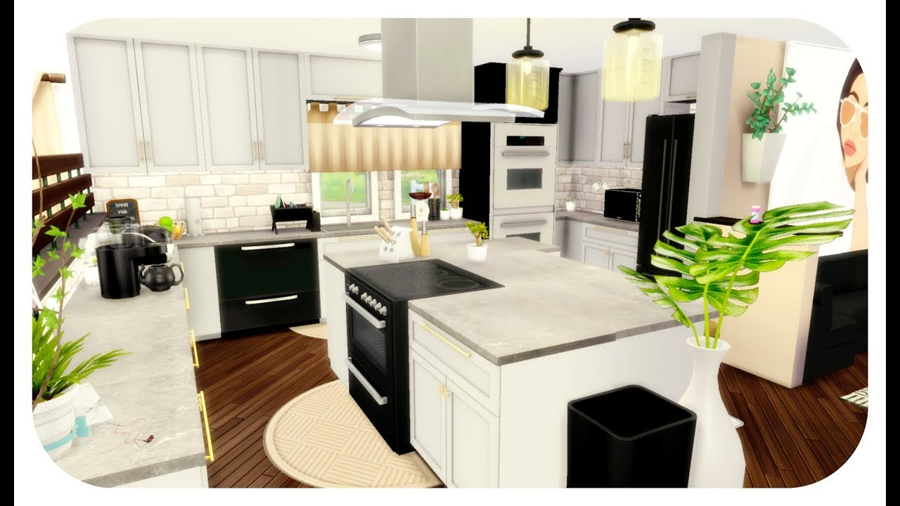 The sims 4 house build dream contemporary house speed for Dream house builder online free