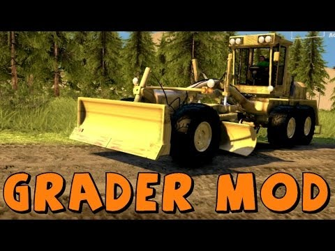 Spin Tires | Doing Work! | Grader Mod | Download Link In Description