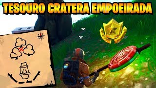 TREASURE MAP IN DUSTY CRATER-Fortnite challenges Week 7 (Battle pass 5)