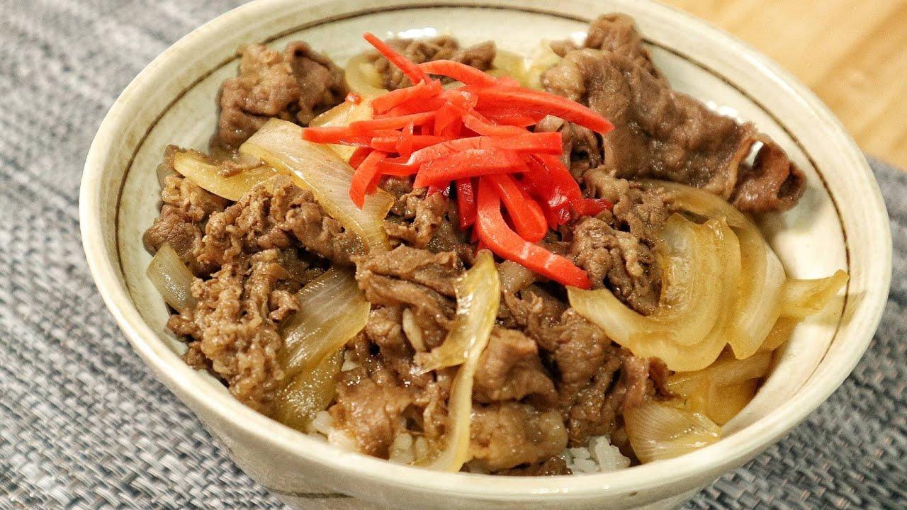 【สูตรเชฟญี่ปุ่น】ข้าวหน้าเนื้อ กิวด้ง สไตล์yoshinoya ทำง่ายมากๆ พร้อมสอนวิธีกินให้อร่อย【อาหารญี่ปุ่น】