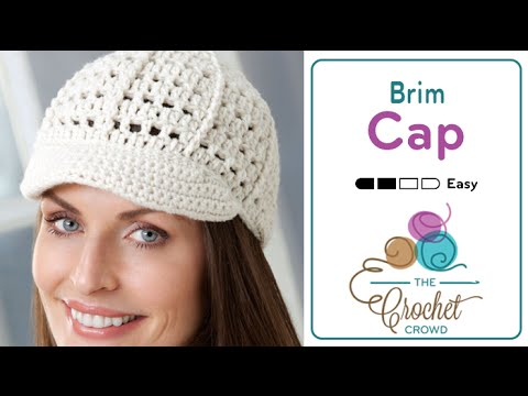 How To Crochet A Hat Visor Cap Youtube