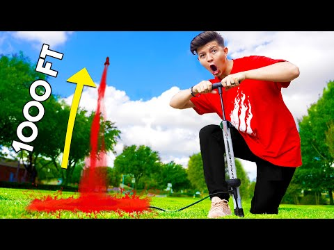 DIET COKE and MENTOS ROCKET Challenge! - Boy vs Girl