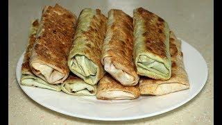 Этот завтрак готовлю несколько дней подряд. Роллы из лаваша.