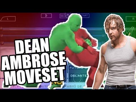 GRUPO DE MOVIMIENTOS DE DEAN AMBROSE - Moveset Dean Ambrose svr 2011