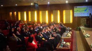 الفريق مميش يشرح لوفد مصر للطيران مشروع قناة السويس الجديدة