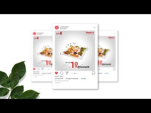 Instagram Ad - Food Banner Design in Adobe Photoshop CC - Designhob