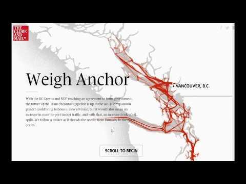 Kinder Morgan Salish Sea oil tanker hazard