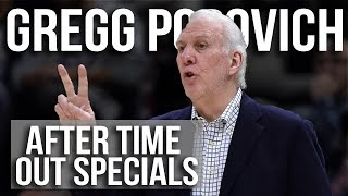 Gregg Popovich San Antonio Spurs After Time Out Sets