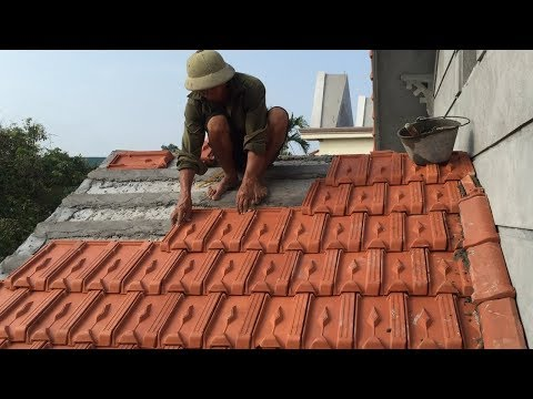 Construction Project - Install Easy Concrete Awnings With Tile Roofing, Install Roof Tiles