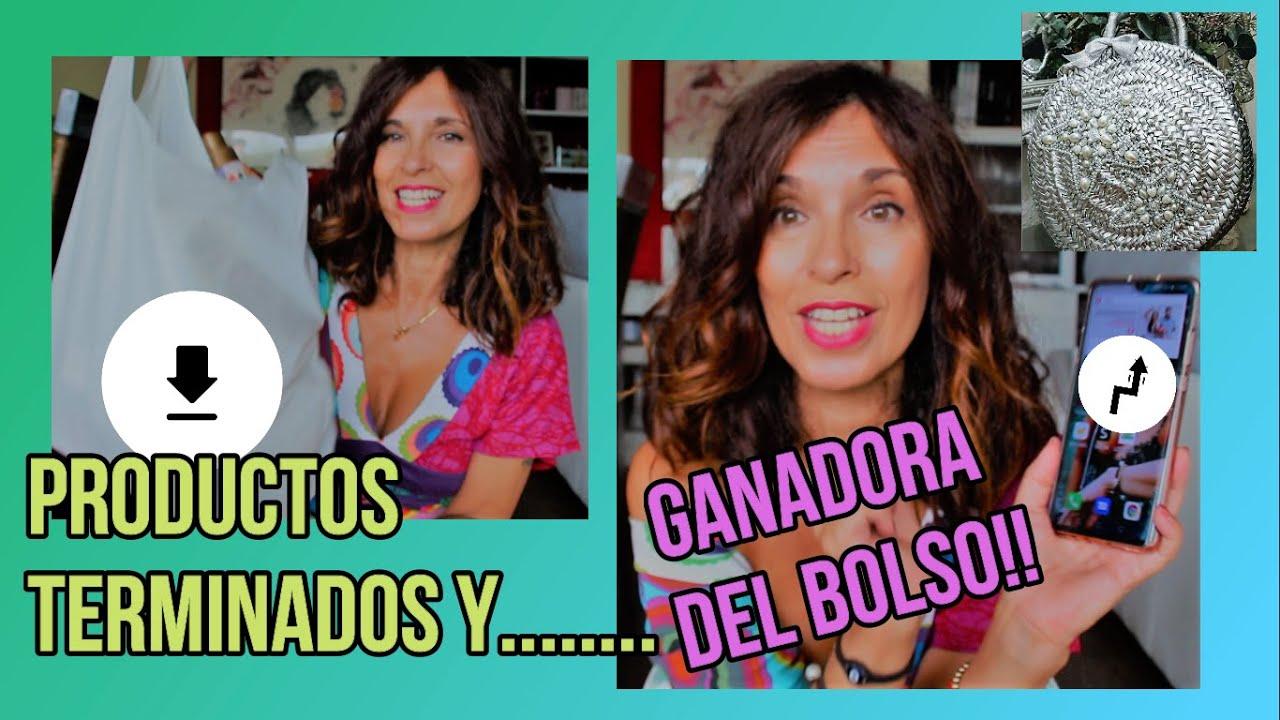 PRODUCTOS TERMINADOS Y .....LA GANADORA DEL BOLSO!!!!!!