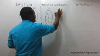 Función Inyectiva, Sobreyectiva, Biyectiva - Function injective, surjective, bijective