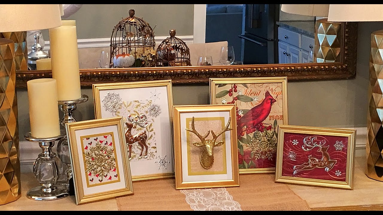 DIY Dollar Tree Holiday Frames How-To - YouTube