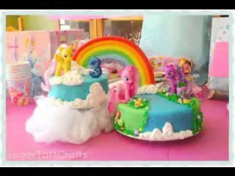 My little pony birthday party decorations - YouTube
