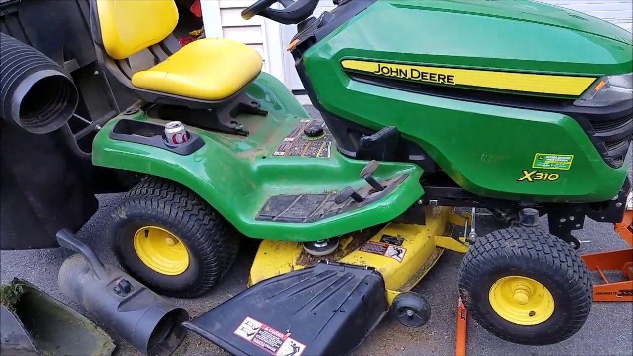 small resolution of change mower deck belt for john deere x300 310 350 etc