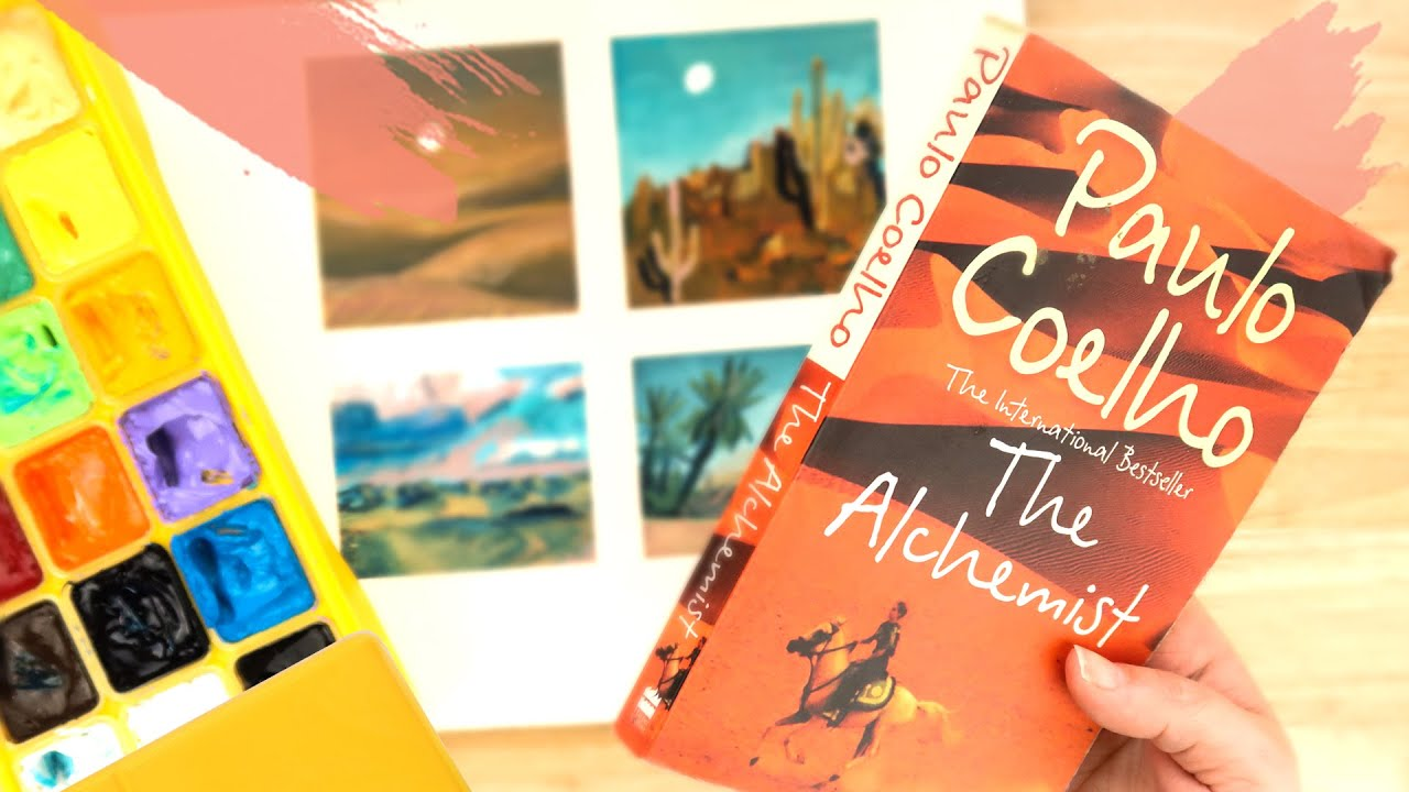 100th PAGE CHALLENGE - 'The Alchemist' by Paulo Coelho. Most inspirational book ever? Drawing promp