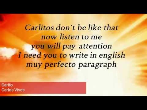 Carito (Letra) - Carlos Vives
