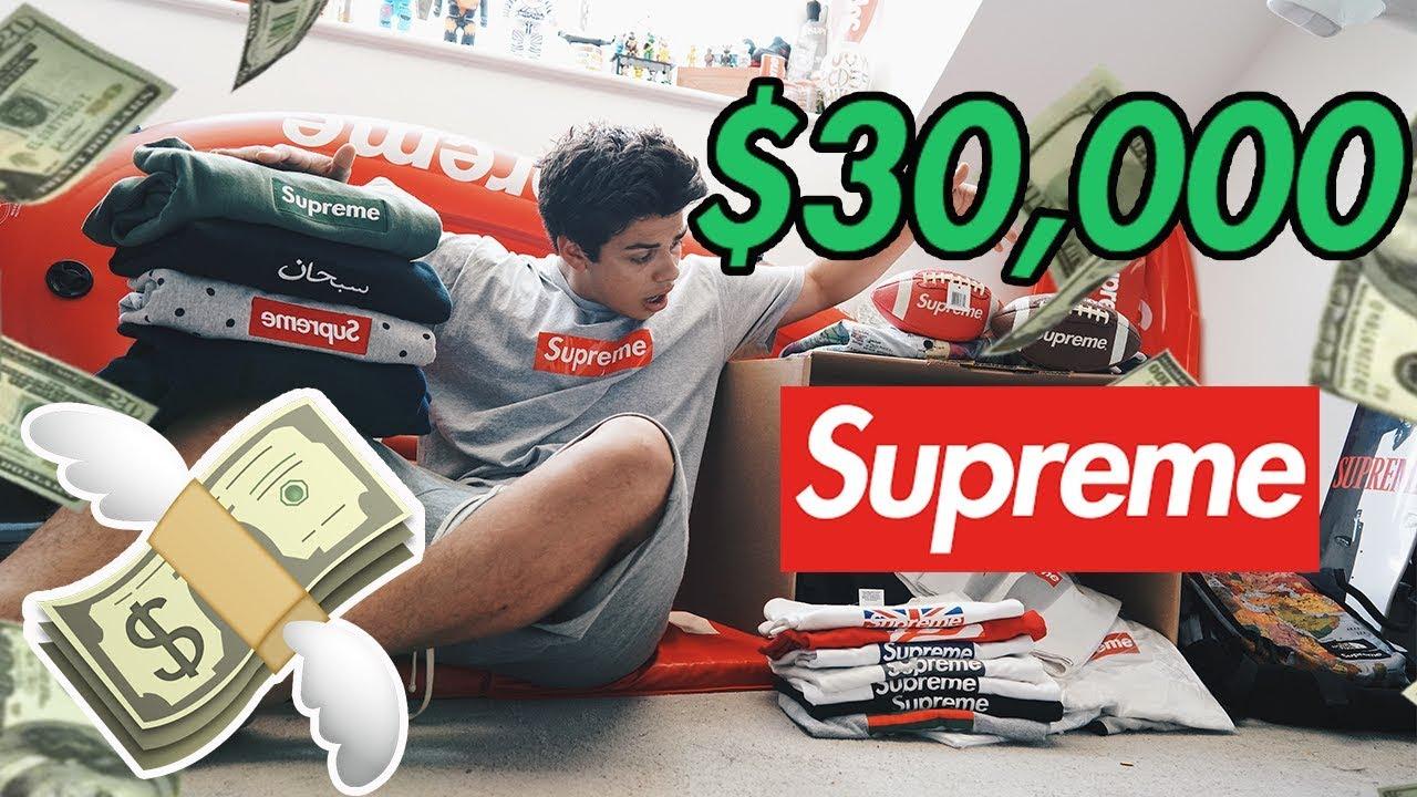 5f82d764f $30,000 INSANE! Supreme Unboxing! *Not Clickbait*