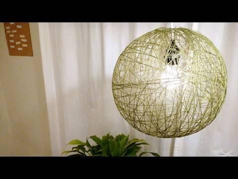 Garn lampe | lav din egen lampe ud af garn se mere her
