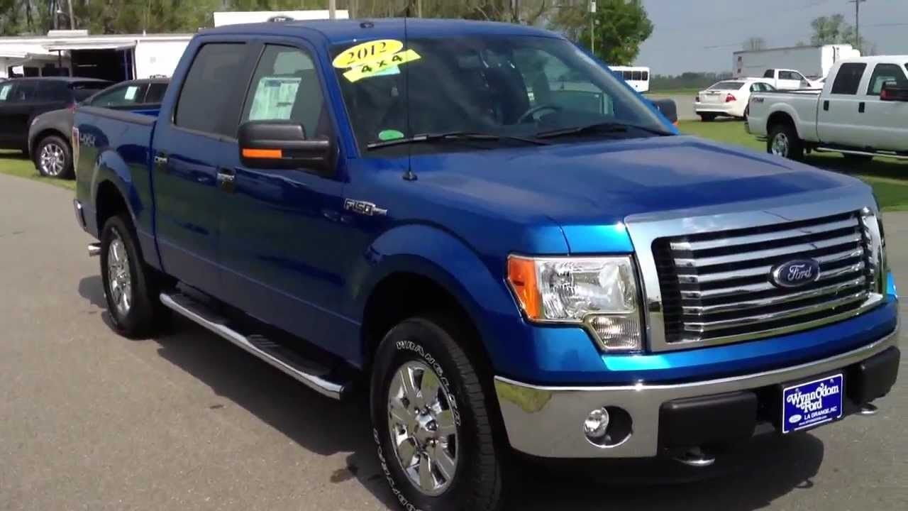 2012 ford f 150 blue flame 4x4 supercrew xlt for sale youtube. Black Bedroom Furniture Sets. Home Design Ideas