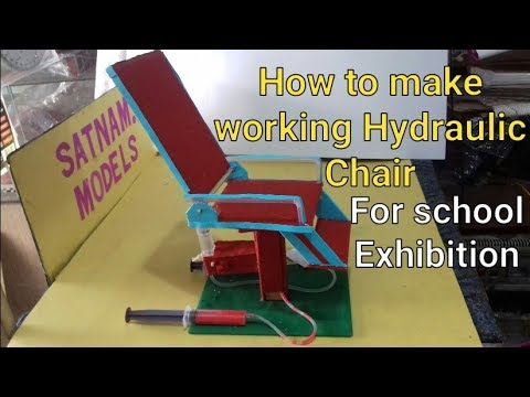 ✔ hydraulic chair | hydraulic projects for science exhibition | 10th class working model