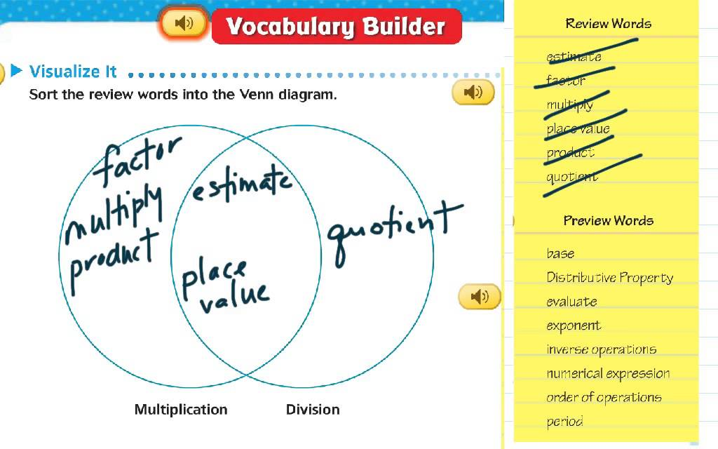Chapter 1 Vocabulary Builder