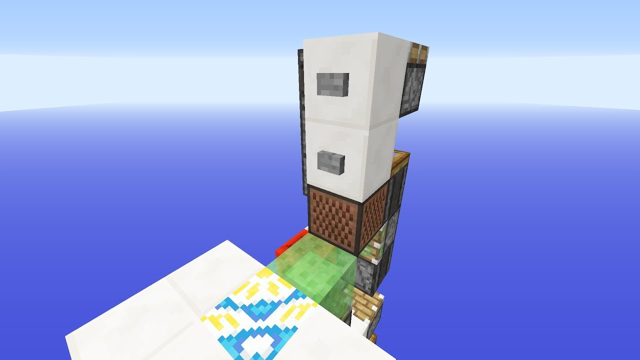 Minecraft 1 12 Simple Slime Block Elevator Compacted Again Youtube