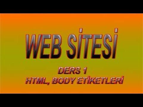 Web Design- Html, Body Tags
