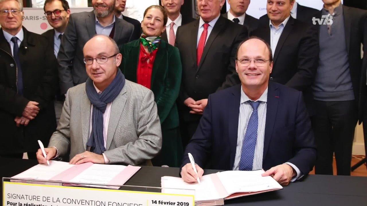 Yvelines | Ligne 18, une signature de convention foncière