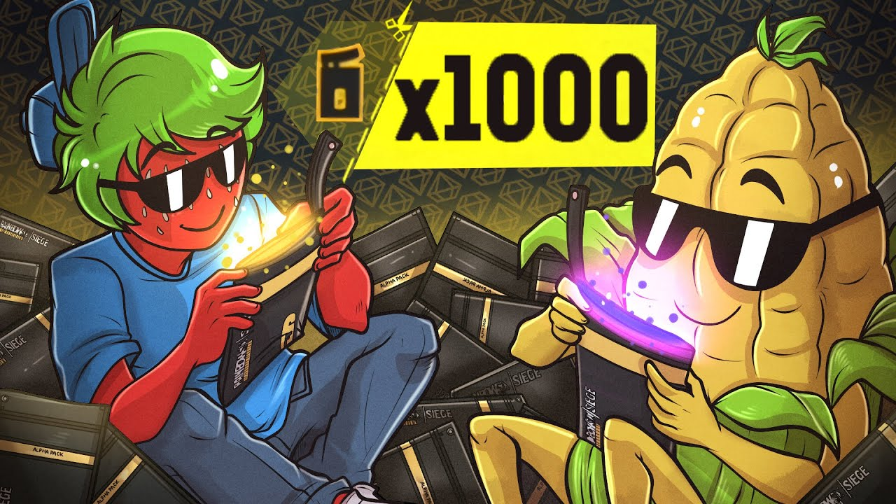 OPENING x1000 ALPHA PACKS IN RAINBOW SIX SIEGE thumbnail