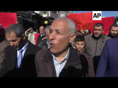 March in Jordan in protest at Aleppo offensive